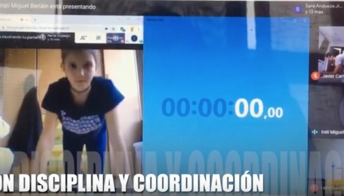 Selección navarra de Tiro con Arco: entrenamiento online en tiempo de confinamiento
