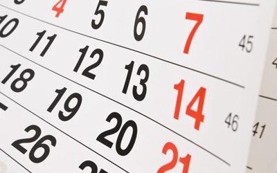 Calendario de competiciones y puntuaciones mínimas